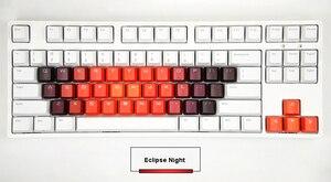 Image 3 - 37 schlüssel Alphabet Tastenkappen Pfeil Tastenkappen ersatz Keyset Schwere Gefärbt Regenbogen OEM Profil PBT doppel schuss Top Glanz durch keycap