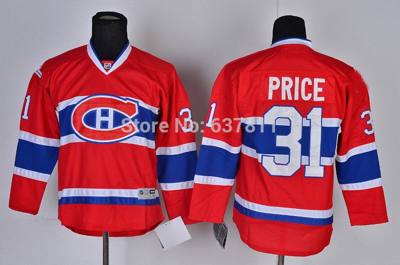 85c1d99b94d ... Discount Boys Montreal Canadiens Youth Hockey Jerseys 31 Carey Price  Jersey Kids Home red Carey Price ...