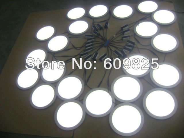 2014 Hot Sale Free Shipping 20xpcs White/warm Dia240mm Celling Lighting Round Panel Lights 18w The Light Hbo Family Hot Sale