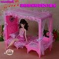Новая Кукла аксессуары Принцесса кровать с музыкой для куклы барби 1/6 мебель комплект игры Головоломки Двойного назначения диван детей игрушки подарки