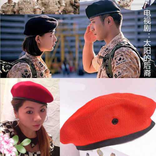 5b1f896c628 ... Men and Women Outdoor Breathable Pure Wool Beret Hats Caps Special  Forces Soldiers Death Squads Military ...