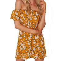Plus Size 2017 New Women S Dress Sexy Style One Leaf Sleeve Print Short Sleeve Print