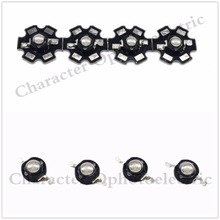 5/10/20/50 pcs 3W High Power UV ultraviolet 365-370nm 375-380nm 395-400nm black LED Lamp Light NO/On 20mm pcb стоимость