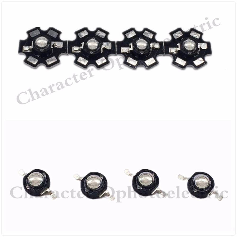 5/10/20/50 pcs 3W High Power UV ultraviolet 365-370nm 375-380nm 395-400nm black LED Lamp Light NO/On 20mm pcb