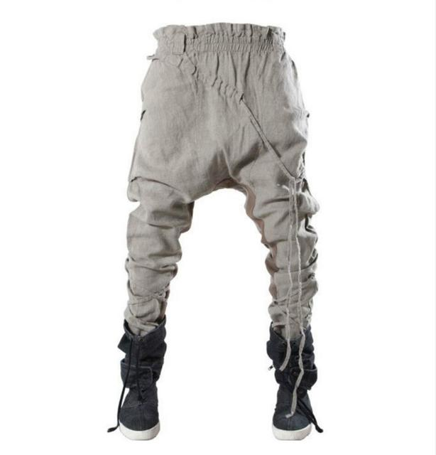1e4f3071 EUA estilo moda masculina harem pants calça casual calças skinny calças  cantores dançarinos trajes Dos Homens
