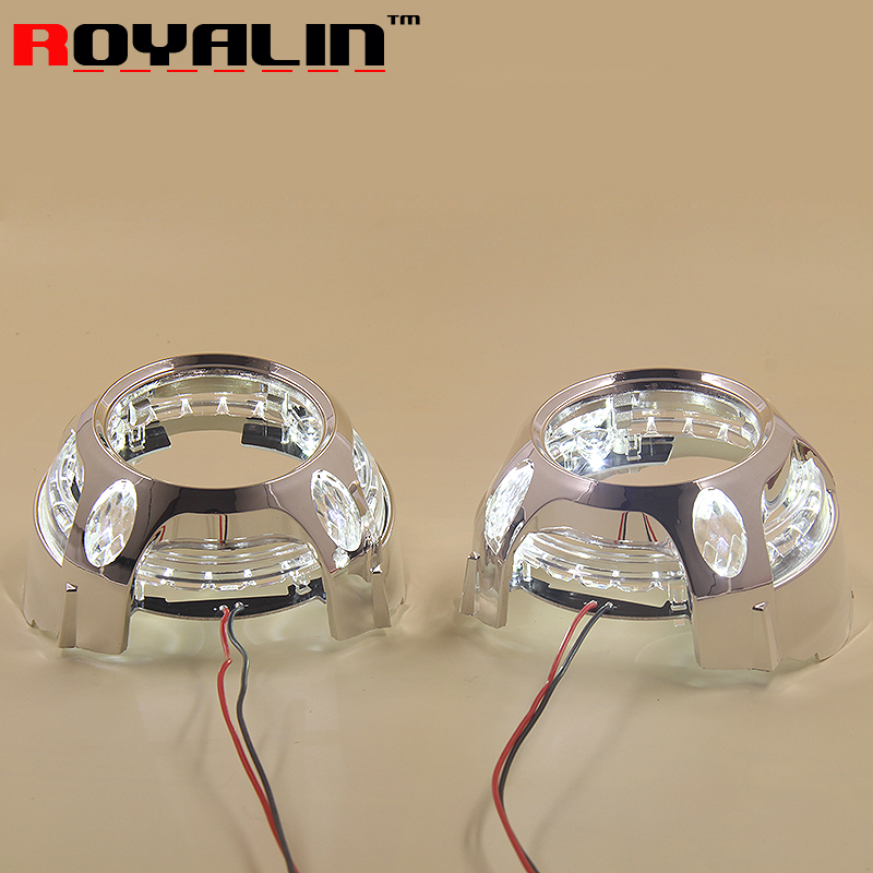 LED Angel Eye Daytime Running Lights DRL for 2.5 3.0 Bixenon HID Projector Headlights Lens Bezel Mask for Porshce Panamera Style hireno headlamp for mercedes benz w163 ml320 ml280 ml350 ml430 headlight assembly led drl angel lens double beam hid xenon 2pcs