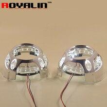 LED Angel Eye Daytime Running Lights DRL for 2.5 3.0 Bixenon HID Projector Headlights Lens Bezel Mask for Porshce Panamera Style