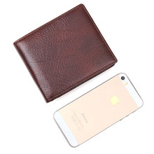 Genuine Leather Fashion Mens Wallet Card Holder Money Vintage Business Purse Coffee R-8142-3C