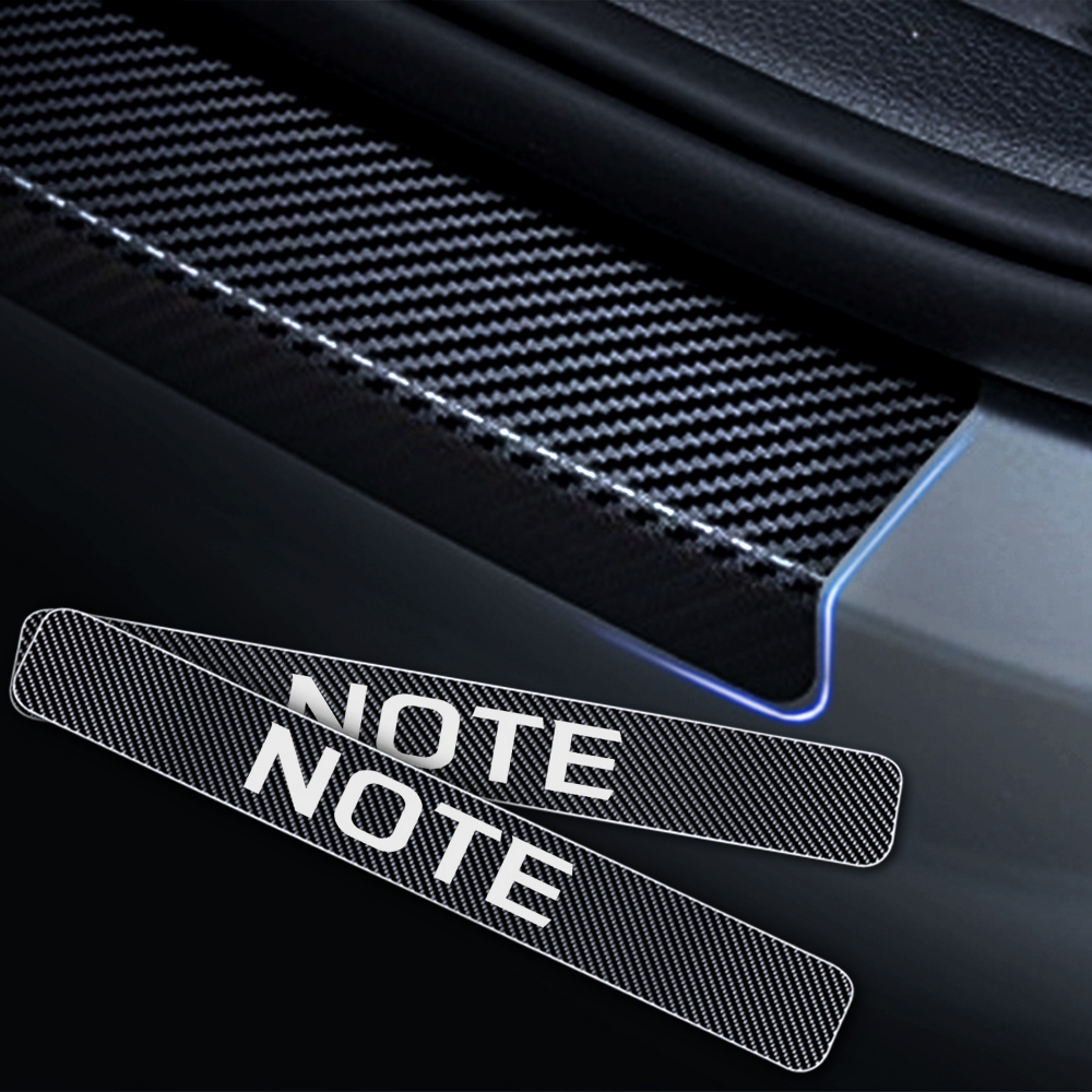 For N issan Juke Note Qashqai Car Door Sill Protector Door Entry Guard Welcome Pedal Threshold Reflective 4D Carbon Fiber Stickers Anti-Scratch