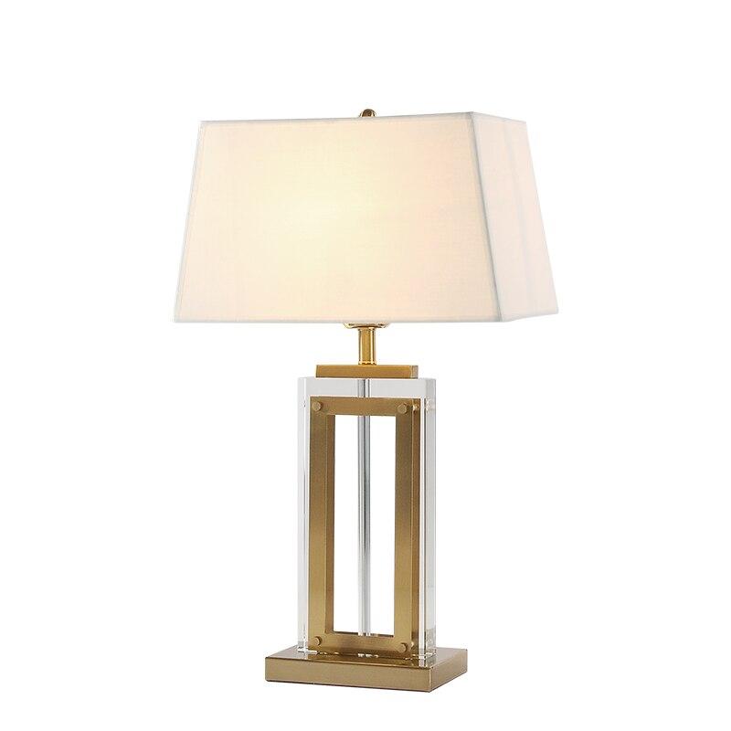 Роскошные современные настолные лампы спальни прикроватные искусство домашний декоративный свет отель кабинет освещение для чтения E27 светодиодный светильник - Цвет абажура: TABLE LAMP