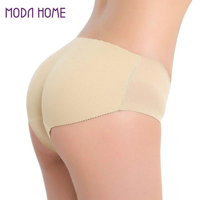 460f2a4ab Sexy Acolchoado Mulheres Calcinhas Sem Costura Nádega Gordo Cuecas Butt  Lift Cuecas Mulheres Roupa Interior Panty