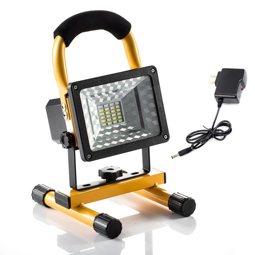 LED Spotlight Outdoor Waterproof LED Flood Light 220V Portable Street Light EU US Plug Charging Floodlight Car Signal Light