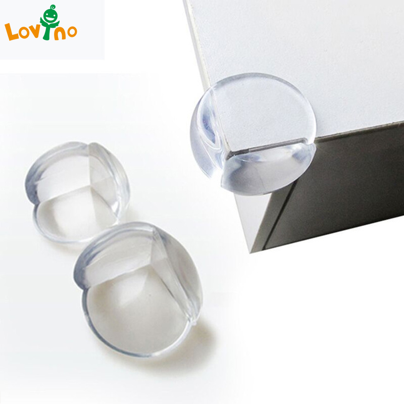 20/30pcs/lot Rubber Ball Transparent L Shape Baby Safety Silicone Corner Protector Kids Soft Clear Table Desk Edge Corner Guards