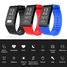 лучшая цена Dropshipping Heart Rate Smart Band Watch ECG PPG Puls Blood Pressure Monitor Smart Fitness Bracelet Wristband For Android IOS