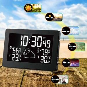 Image 2 - Protmex PT3378A محطة الطقس ، لاسلكي داخلي مقياس حرارة خارجي الرطوبة منبه رقمي ساعة مقياس الضغط