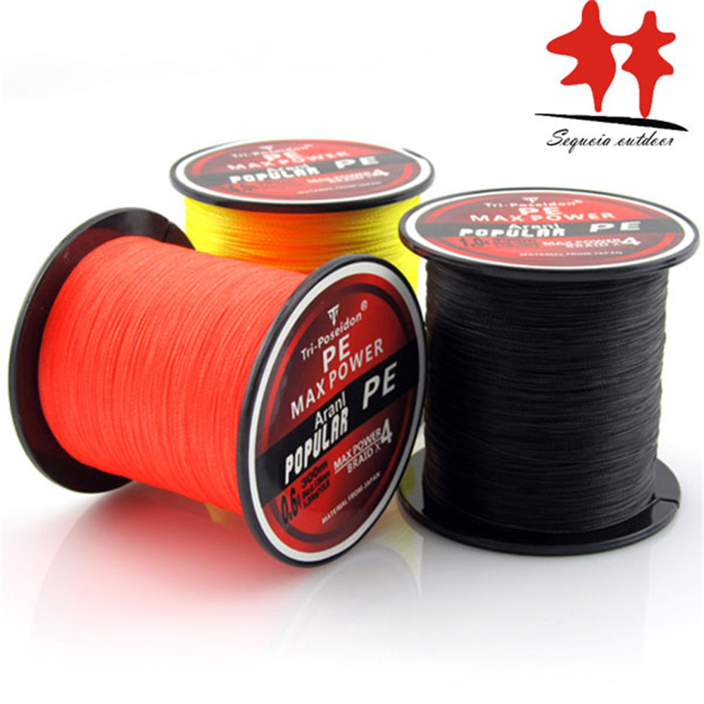 300M Braided Fishing Line!SALE!! TriPoseidon 300M PE Braided Multifilament Fishing Line 330Yards Super Strong brand line