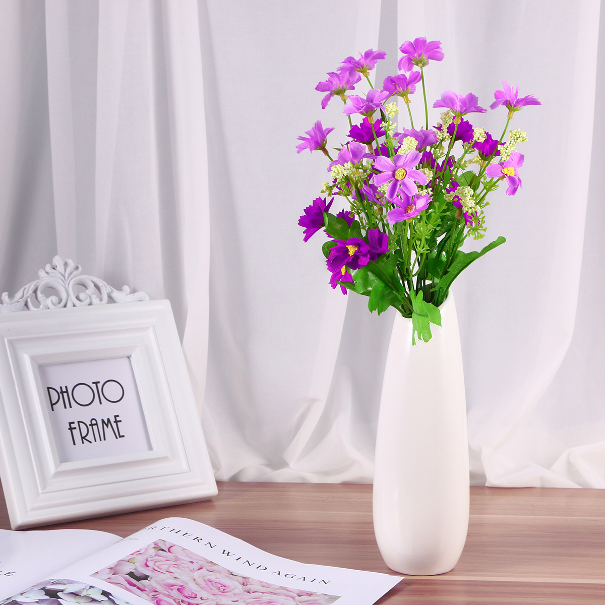 5pcs Artificial Flowers Silk Daisy Flowers Simulation Daisy Plants ...