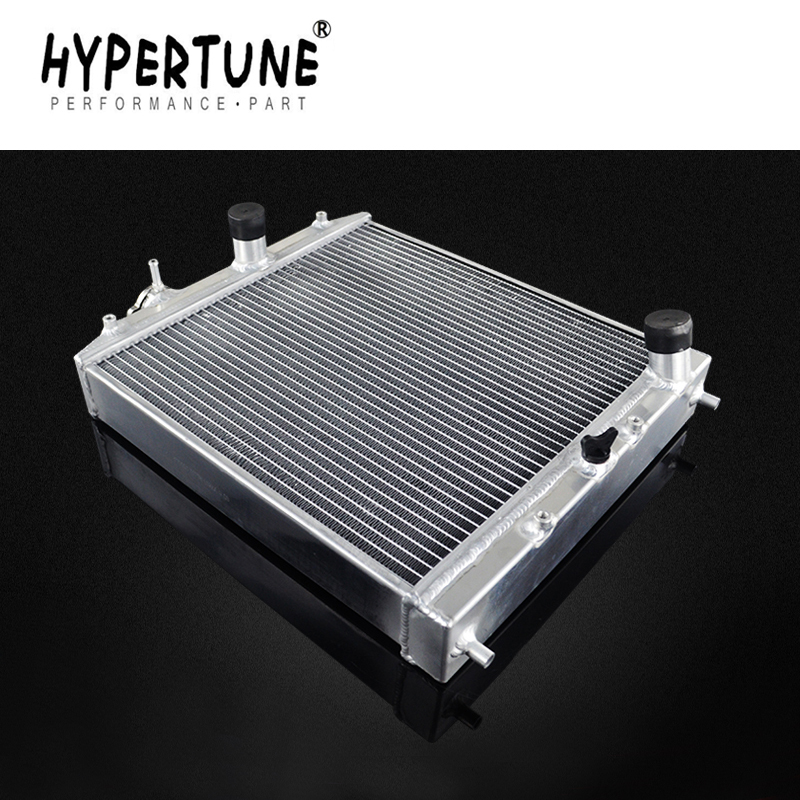 Hypertune - 52MM Full Aluminum Radiator <font><b>3</b></font> Row For HONDA CIVIC B18C/B16A MT 32MM IN/OUT HT-SX104 image