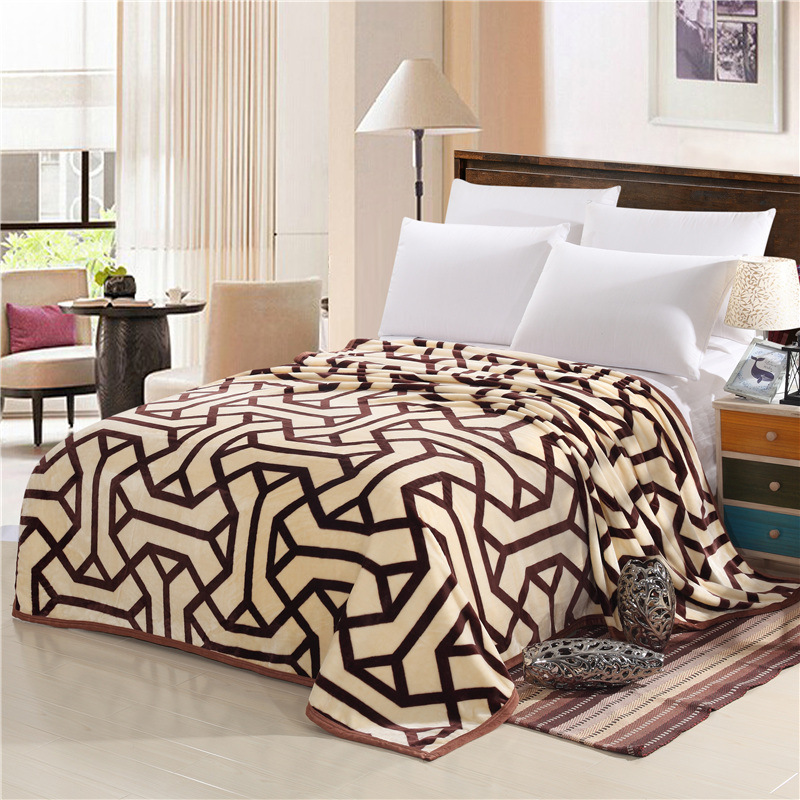 king size blanket Autumn and winter fashion super soft flannel wool blanket sofa bed  king size blanket