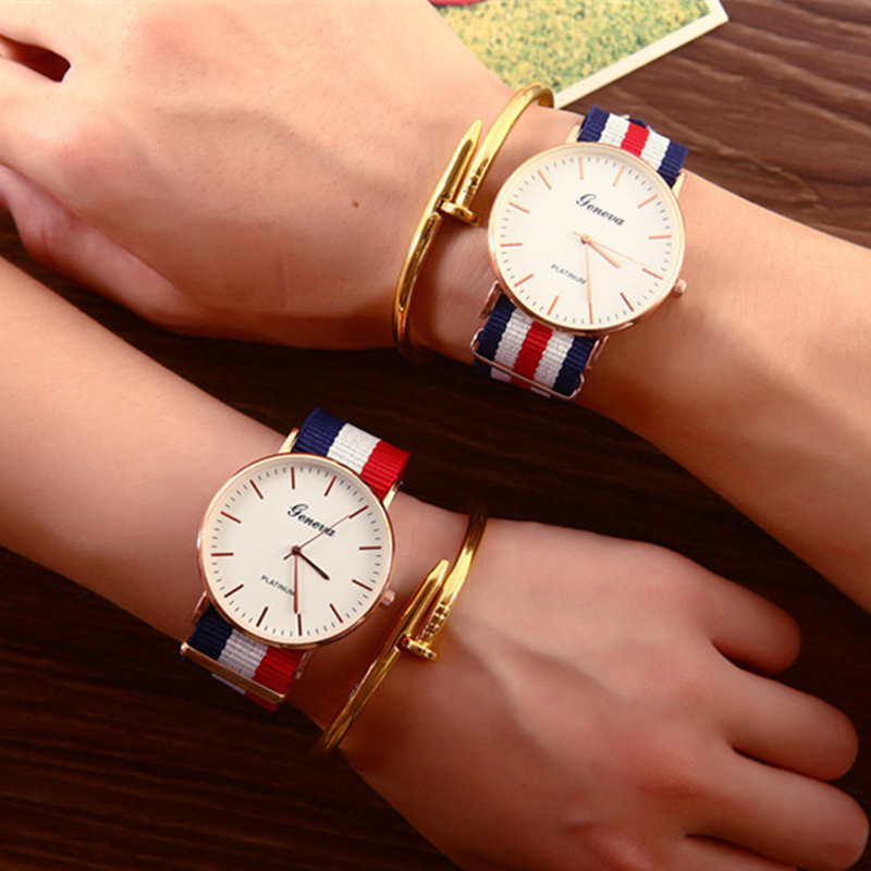 2018 Men Women Watches Top Brand Luxury Quartz Watch Nylon Rose Gold Clock Women Casual Sport Watch Masculino Feminino Kol Saati