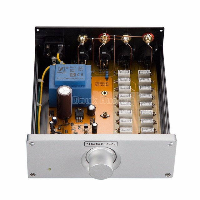 2020 Neueste Nobsound Hohe Genauigkeit Relais Volumen Controller Ausgewogene Potentiometer Passive Preamp XLR Volumen Control 0.1%
