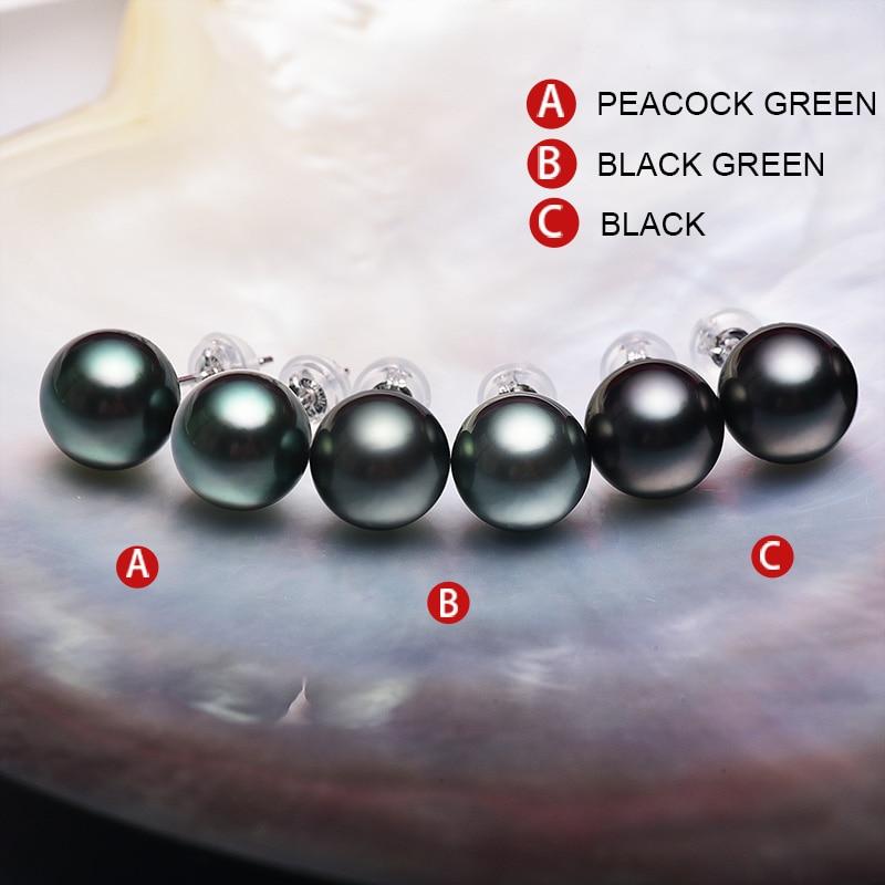 YS 18 k Solido Oro Bianco 8 9mm Nero Perla di Tahiti Orecchini con perno Gioielleria Raffinata-in Orecchini da Gioielli e accessori su  Gruppo 3