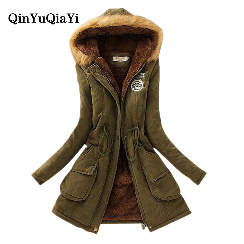 Women Parka abrigos mujer invierno Winter Warm Jackets Women Fur Collar Coats Long Parkas Hoodies Office Lady Cotton Plus Size