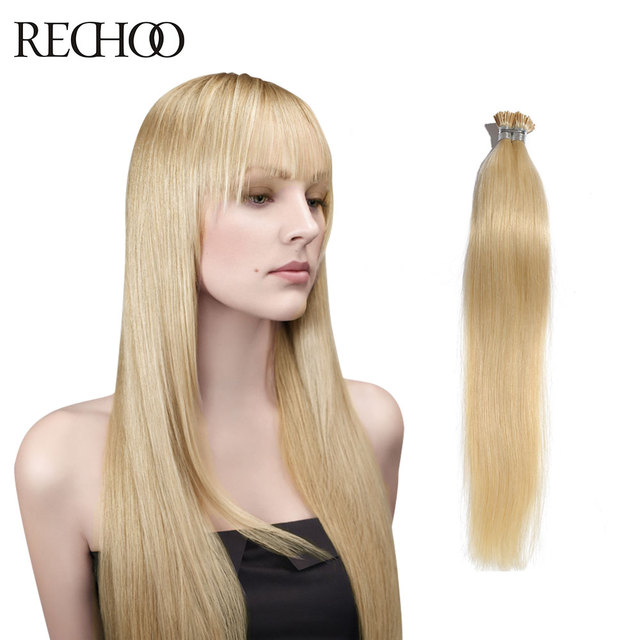 I Tip Pre Bonded Remy Hair Extensions Straight Brazilian Human Hair
