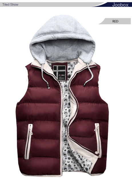 Man ma3 jia3 tide of new fund of 2016 autumn winters is detachable cap cultivate one's morality warm pure color vest