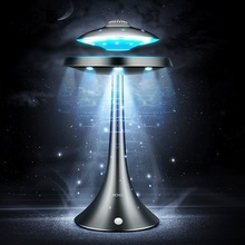НЛО Магнитный Левитация bluetooth стерео беспроводной зарядки продолжать жизнь НЛО звук bluetooth колонки модная лампа