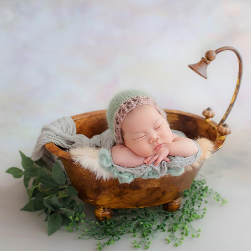 Newborn Photophy  Props  Iron Bathtub Creative Retro Do Old Style Baby Bathtub Photo Accessories