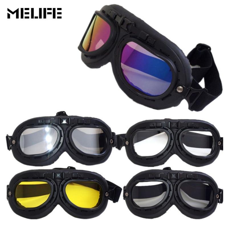 MELIFE Motorbike Motocross Helmet Pilot Goggles Jet Aviator Racing Goggle Cruiser Bike UV Protection Ski glasses For unisex
