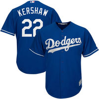 MLB Men S Los Angeles Dodgers Clayton Kershaw Majestic Royal Alternate Cool Base Player Jersey