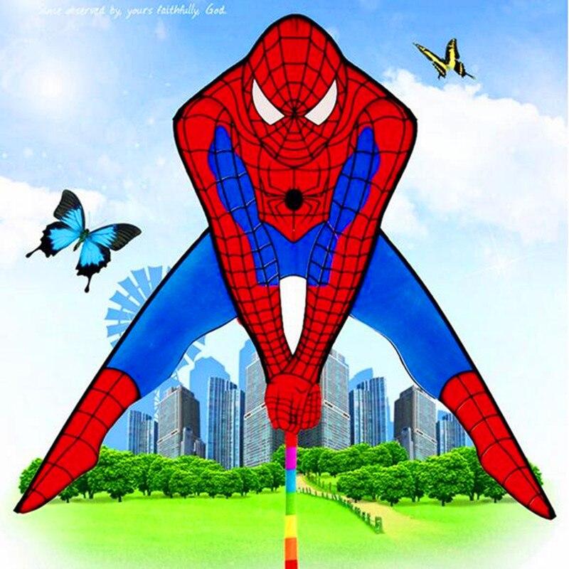 Livraison gratuite de haute qualité spiderman cerf-volant usine en gros avec ligne en plein air volant jouets cerfs-volants à vendre volant dragon windchaussette