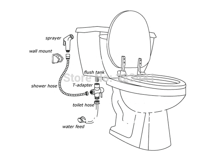 Bathroom Toilet Bidet Valve 7/8\