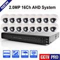 16CH 1080 P AHD DVR Kit Con 12 Unids Leds 10 M IR de Visión Nocturna Mini CCTV 2MP AHD Cámara Domo Al Aire Libre Cámara de Seguridad En Casa sistema