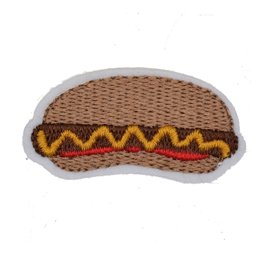 2Pcs Hamburger Fast Food patch Cartoon Children Kids Embroidered Iron patch Clothes Bag T-Shirt Jeans Biker Badge Applique