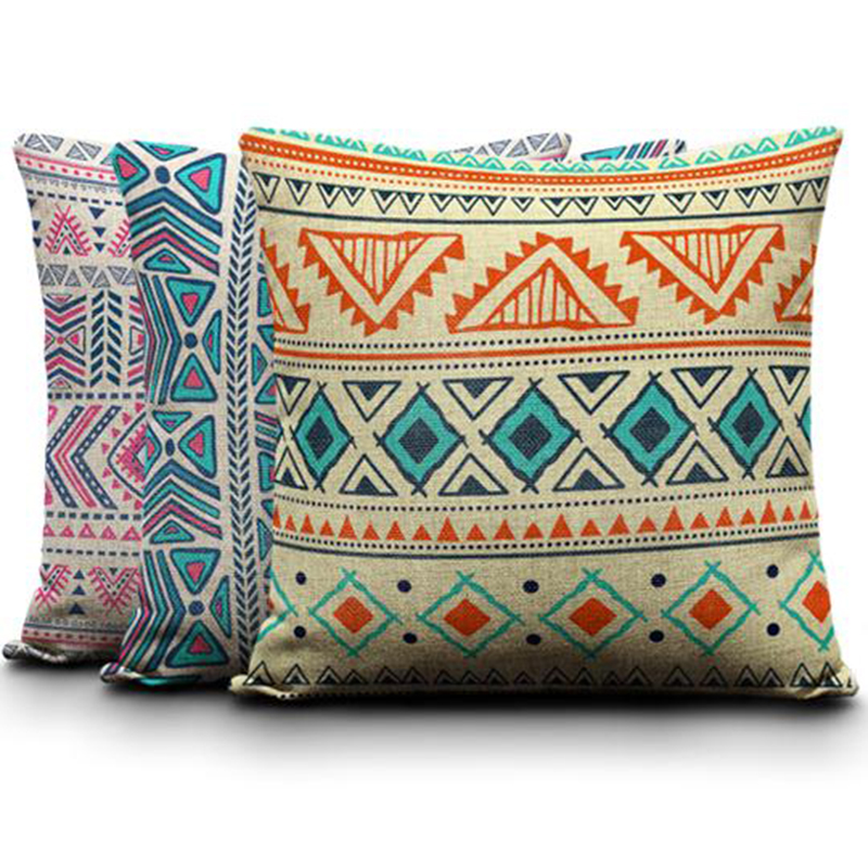 Cheap Aztec Seamless Pillow Cushion Case Euro kilim Pillow Cover Camping Square Linen Kids Birthday Decorative Halloween Cojin