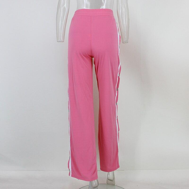 HTB1.nRHSpXXXXcvapXXq6xXFXXXi - Red button track pants runway Women's wide leg trousers casual pants JKP012