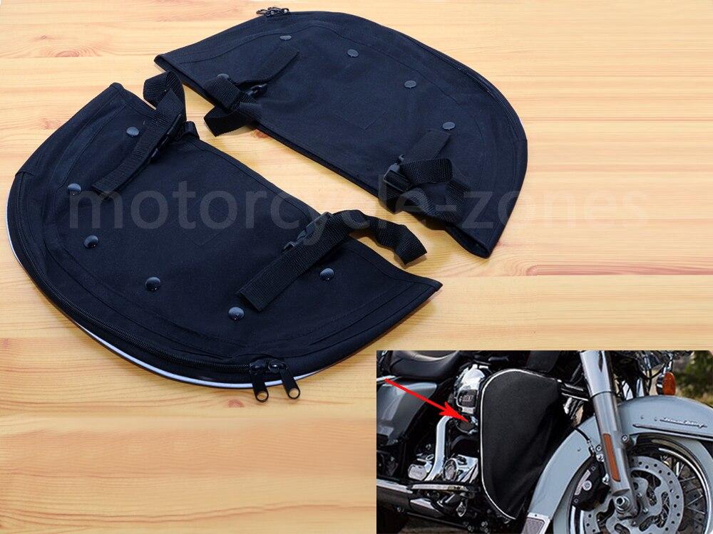 Home Black Motorcycle Soft Lowers Elephant Ears Chaps Leg Warmer Nylon Bag For Harley Sportster Xl Iron 1200 883 48 2004-2017 2018