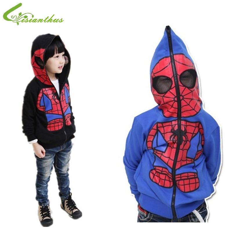 Hoodie Baby Jacket Christmas-Costume Spiderman Halloween Boys Outerwear Clothing Kids