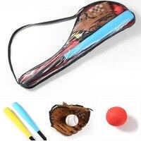 Kids Super Safety Foam Baseball Bat & Baseball Gloves Outdoor Exercise Training Baseball Set with Bag