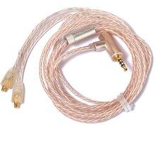 2,5mm 4 Sección equilibrio MMCX Cable para Shure SE215 SE535 SE425 SE846 UE900 8 acciones de plata cobre mezclado auriculares de actualización de línea