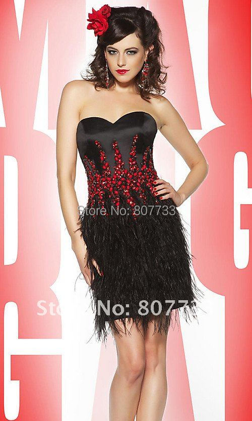 413bf79a293ca Free Shipping!!! Plus size accept! New C0112 sexy short beaded black ...