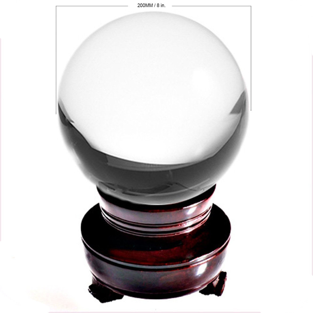 Ship from USA 200mm Rare Clear Asian Quartz feng shui ball Crystal Ball Sphere Fashion Table Decor Good Luck Ball Free ShippingShip from USA 200mm Rare Clear Asian Quartz feng shui ball Crystal Ball Sphere Fashion Table Decor Good Luck Ball Free Shipping
