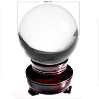 Ship from USA 200mm Rare Clear Asian Quartz feng shui ball Crystal Ball Sphere Fashion Table Decor Good Luck Ball Free Shipping