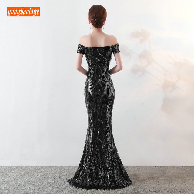 Sumptuous Mermaid Prom Dresses Women Party 2019 Reflective Dress Prom Sequined Special Occasion Dresses Formal Gowns Real Photos 1
