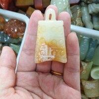 Antique Handicrafts Retro Decorative Jade Chime Instrument Necklace