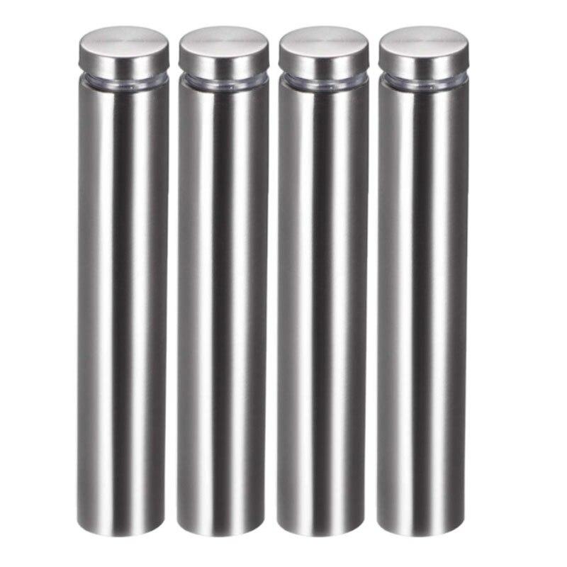 15pcs 16mm Cap Advertising Glass Tea Table Decor Screw Mirror Nail Silver Tone