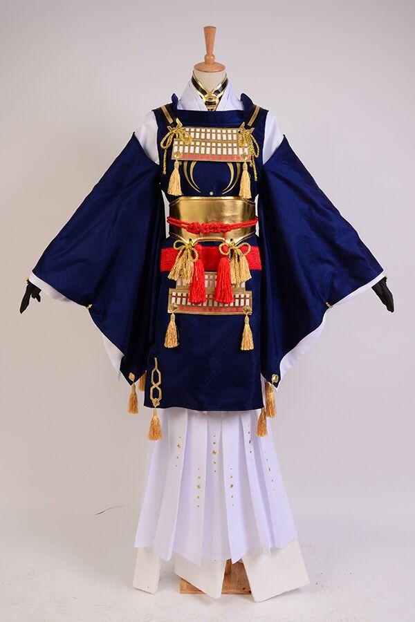 Touken Ranbu Online Cosplay Mikazuki Munechika costume Blue Full Sets Samurai Uwowo Costume Halloween Carnival costume